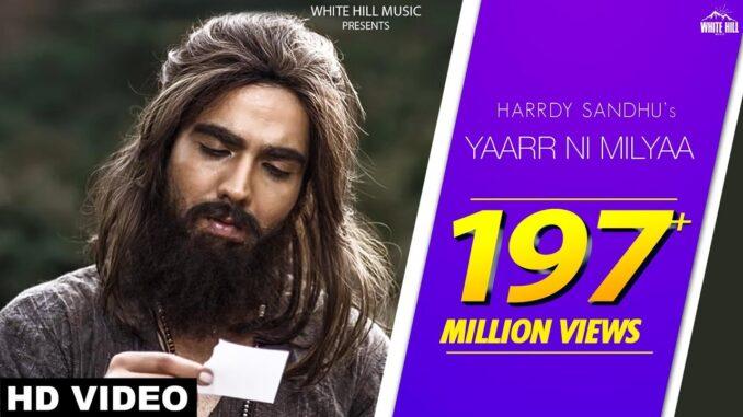 Yaar Ni Milya, Yaar Ni Milya Harrdy Sandhu Mp3 Download